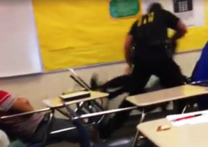officer body slamms female high school student